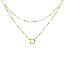 Buy Dogeared Tiny Karma Double Chain Necklace, Gold Online at johnlewis.com