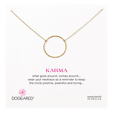 Buy Dogeared Medium Sparkle Karma Necklace Online at johnlewis.com