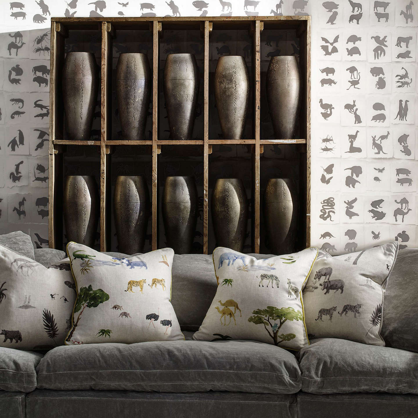 BuyHolly Frean for Andrew Martin Two by Two Cloud Wallpaper, Cloud TT02 Online at johnlewis.com