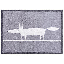 Buy Turtle Mat Scion Mr Fox Doormat Rug, Grey Online at johnlewis.com