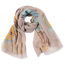 Buy Powder Hot Air Balloon Print Scarf, Neutral/Multi Online at johnlewis.com