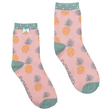 Buy Powder Short Pineapple Print Ankle Socks, Blush/Mint Online at johnlewis.com