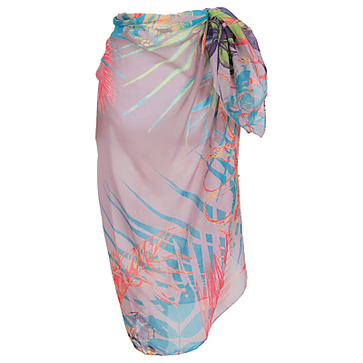 Powder Jungle Print Sarong, Multi