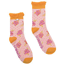 Buy Powder Short Rosebud Print Ankle Socks, Blush/Orange Online at johnlewis.com
