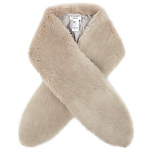 Buy Reiss Laska Faux Fur Scarf, Soft Grey Online at johnlewis.com