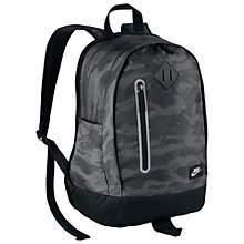 Buy Nike Cheyenne Print Children's Backpack, Dark Grey/Black Online at johnlewis.com