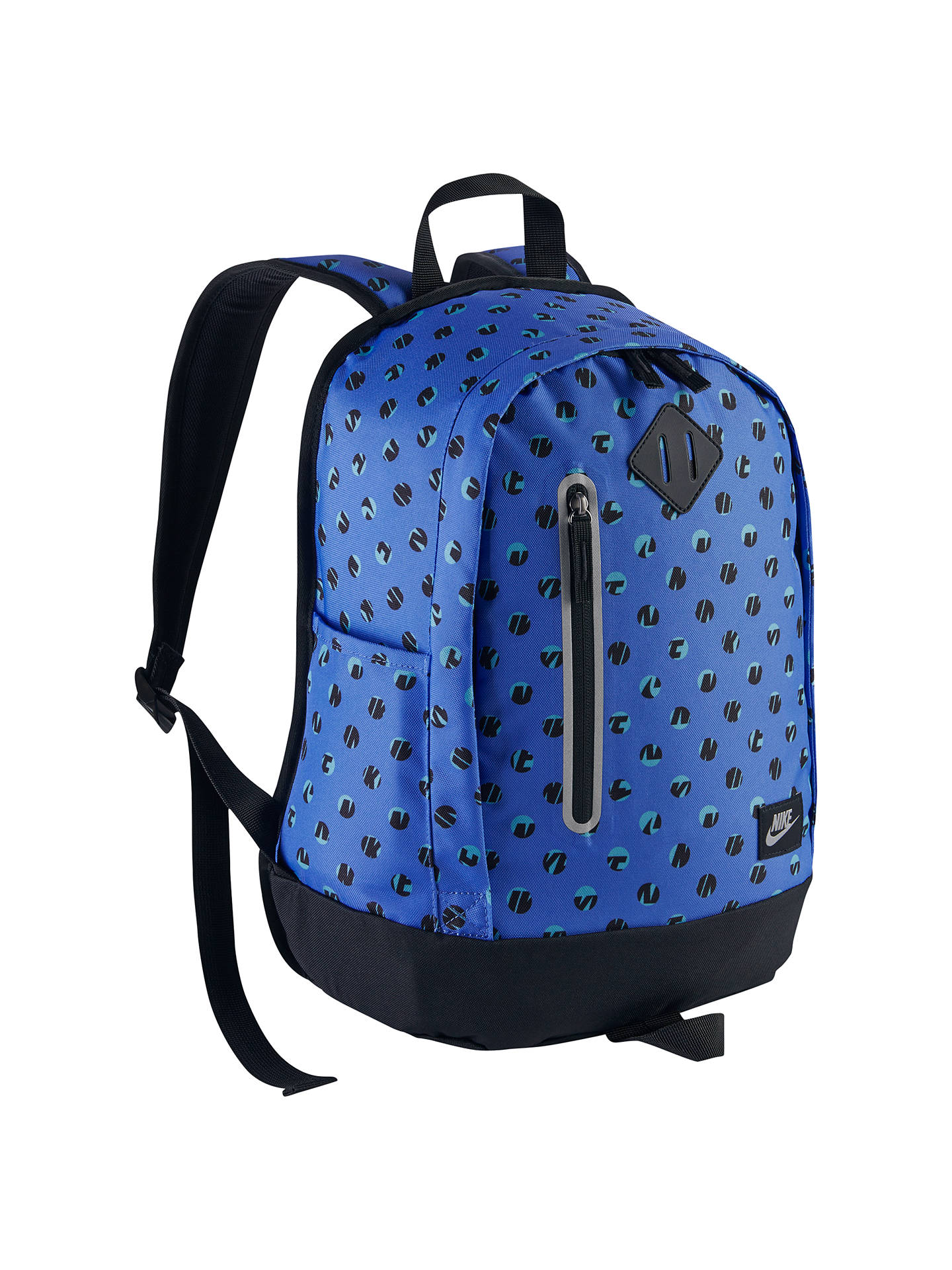 7be35710ac512 Buy Nike Cheyenne Dot Print Children's Backpack, Comet Blue/Black Online at  johnlewis.