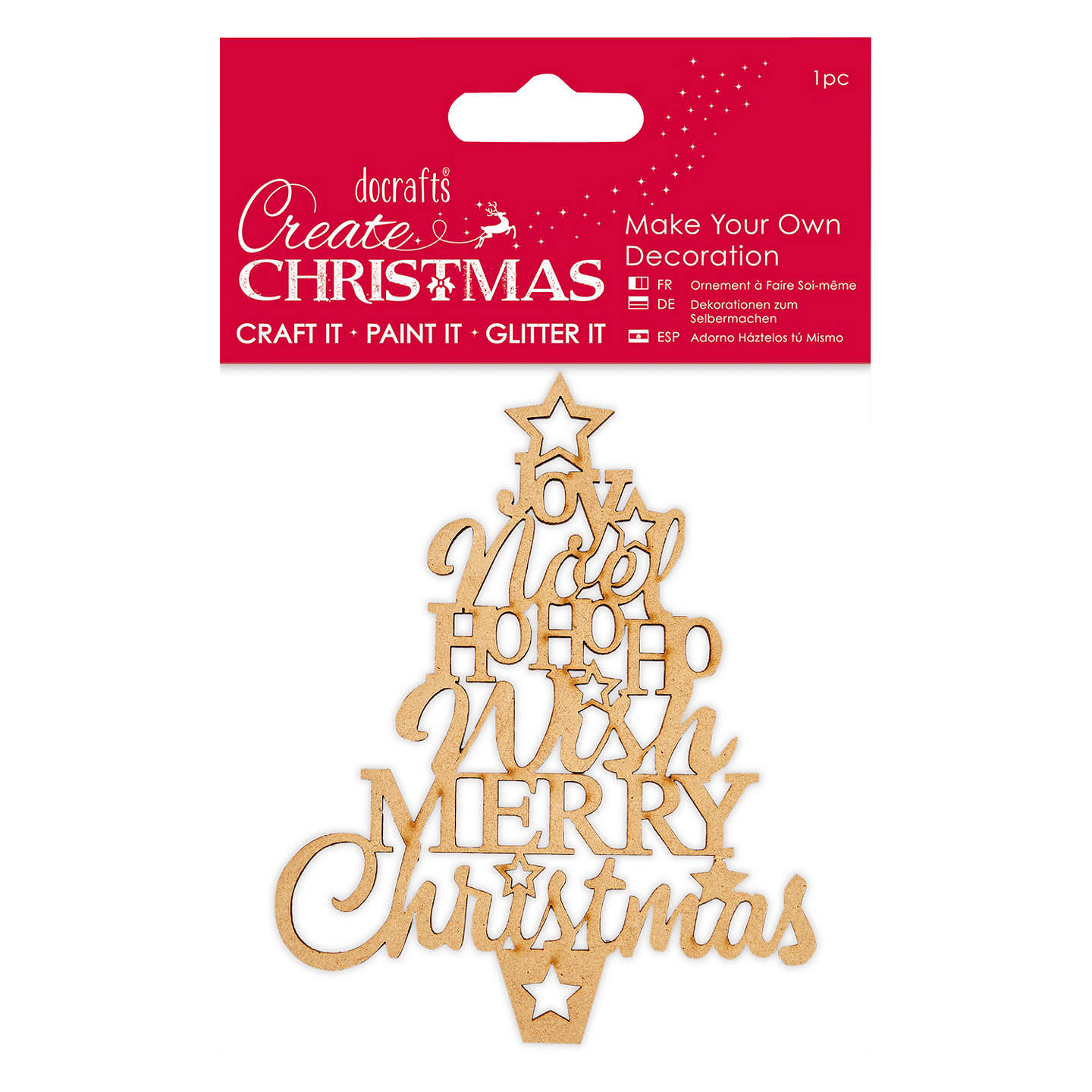 Docrafts Make Your Own Star Christmas Tree Kit, Brown at John Lewis