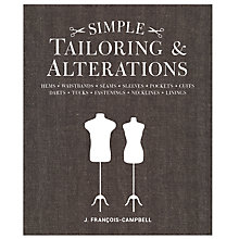 Buy GMC Publications Simple Tailoring and Alterations Book by J. Francois-Campbell Online at johnlewis.com