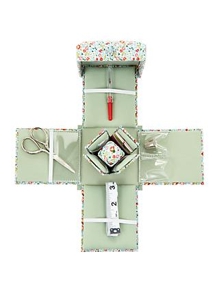Liberty Eloise Print Victorian Sewing Box, Mint