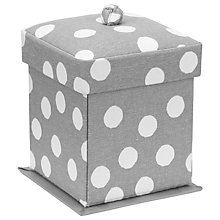 Buy John Lewis Spot Print Victorian Sewing Box Kit, Grey Online at johnlewis.com