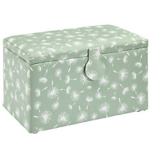 Buy John Lewis Dandelion Medium Sewing Basket, Green Online at johnlewis.com