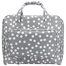 Buy John Lewis Spot Print Sewing Machine Bag, Grey Online at johnlewis.com