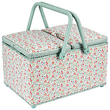 Buy Liberty Eloise Twin Lid Sewing Basket, Mint Online at johnlewis.com
