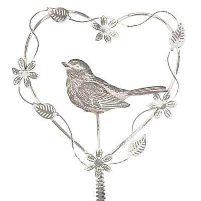 Unbranded Iron Bird Heart Garden Pick