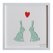 Buy Bertie & Jack - Bestest Bunnies Framed 3D Cut-out, 27 x 27cm Online at johnlewis.com