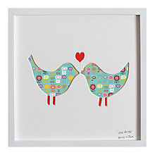 Buy Bertie & Jack - Love Birds Framed 3D Cut-out, 27 x 27cm Online at johnlewis.com