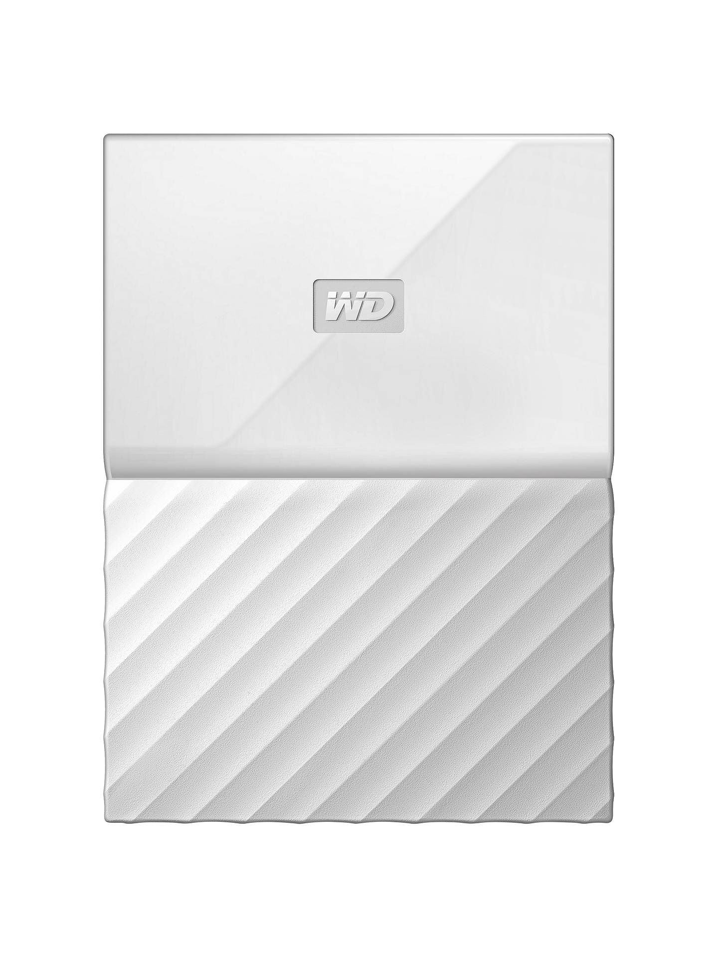 Buy WD My Passport Portable Hard Drive, 2TB, White Online at johnlewis.com