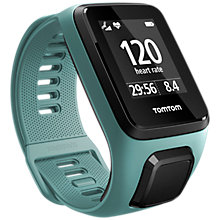 Buy TomTom Spark 3 Cardio GPS Fitness Activity Watch with Built-In Heart Rate Monitor, Aqua, Small Online at johnlewis.com