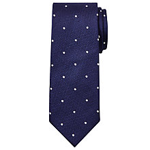 Buy Chester by Chester Barrie Spot Silk Tie, Navy Online at johnlewis.com