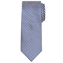Buy Chester by Chester Barrie Chevron Woven Silk Tie Online at johnlewis.com