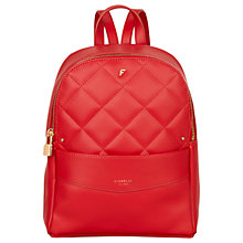 Buy Fiorelli Trenton Backpack, Pillar Box Red Online at johnlewis.com