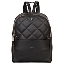 Buy Fiorelli Trenton Backpack, Black Quilt Online at johnlewis.com