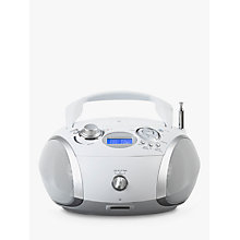 Buy ROBERTS ZoomBox 3 DAB/DAB+/FM CD Radio, White Online at johnlewis.com