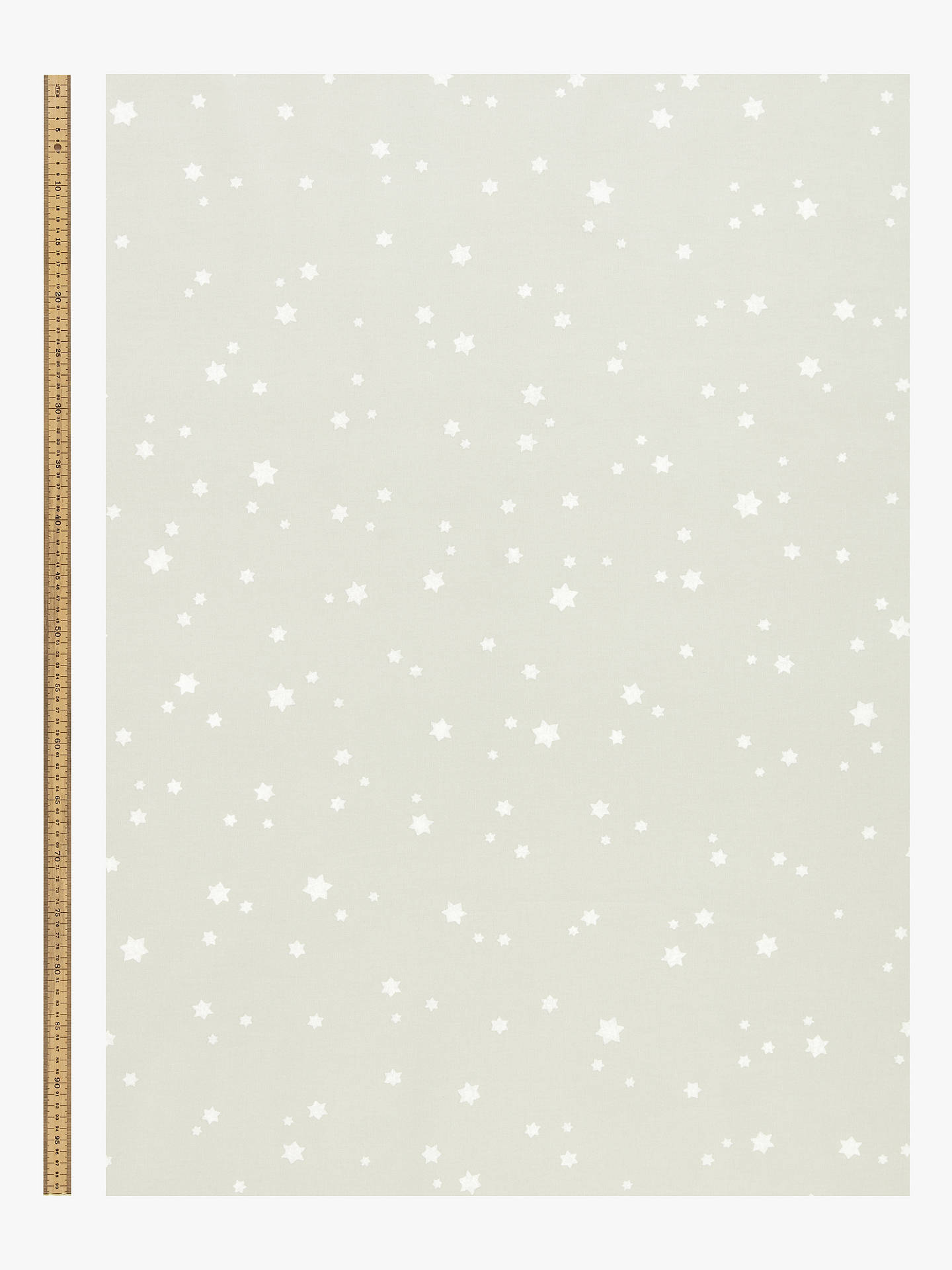BuyJohn Lewis & Partners Twinkle Twinkle PVC Tablecloth Fabric, Grey Online at johnlewis.com