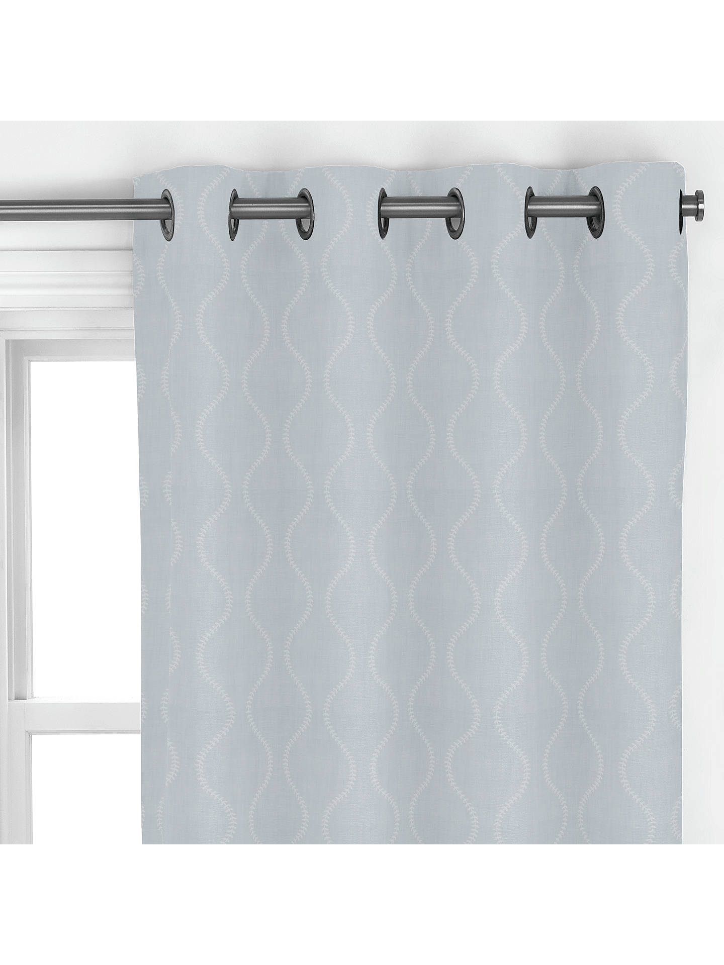 Buy John Lewis & Partners Chattis Embroidery Made to Measure Curtains, Grey Online at johnlewis.com