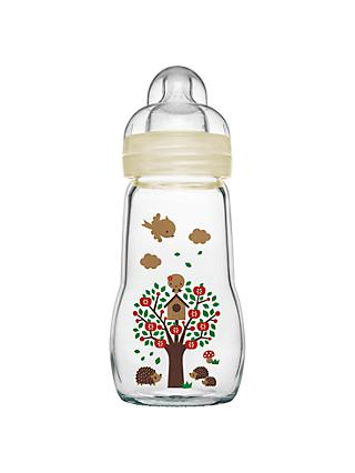 MAM Glass Baby Bottle Gift, 260ml