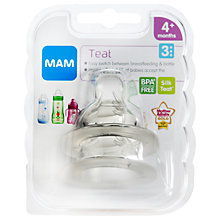 Buy MAM Fast Flow Baby Bottle Teats Online at johnlewis.com