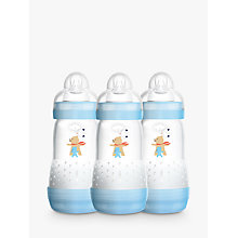 Buy MAM Anti-Colic Baby Bottle, 260ml, Pack of 3 Online at johnlewis.com