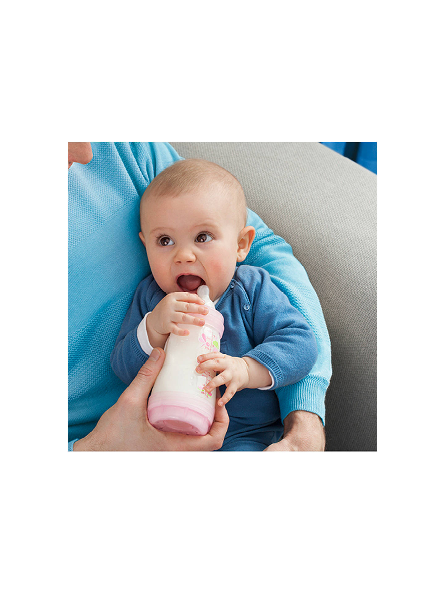 Buy MAM Anti-Colic Baby Bottle, 260ml, Pack of 3, Blue Online at johnlewis.com