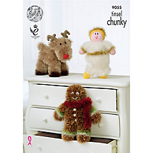Buy King Cole Tinsel Chunky Christmas Toys Knitting Pattern, 9055 Online at johnlewis.com