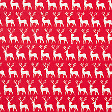Buy John Louden Scandinavian Reindeer Print Fabric Online at johnlewis.com