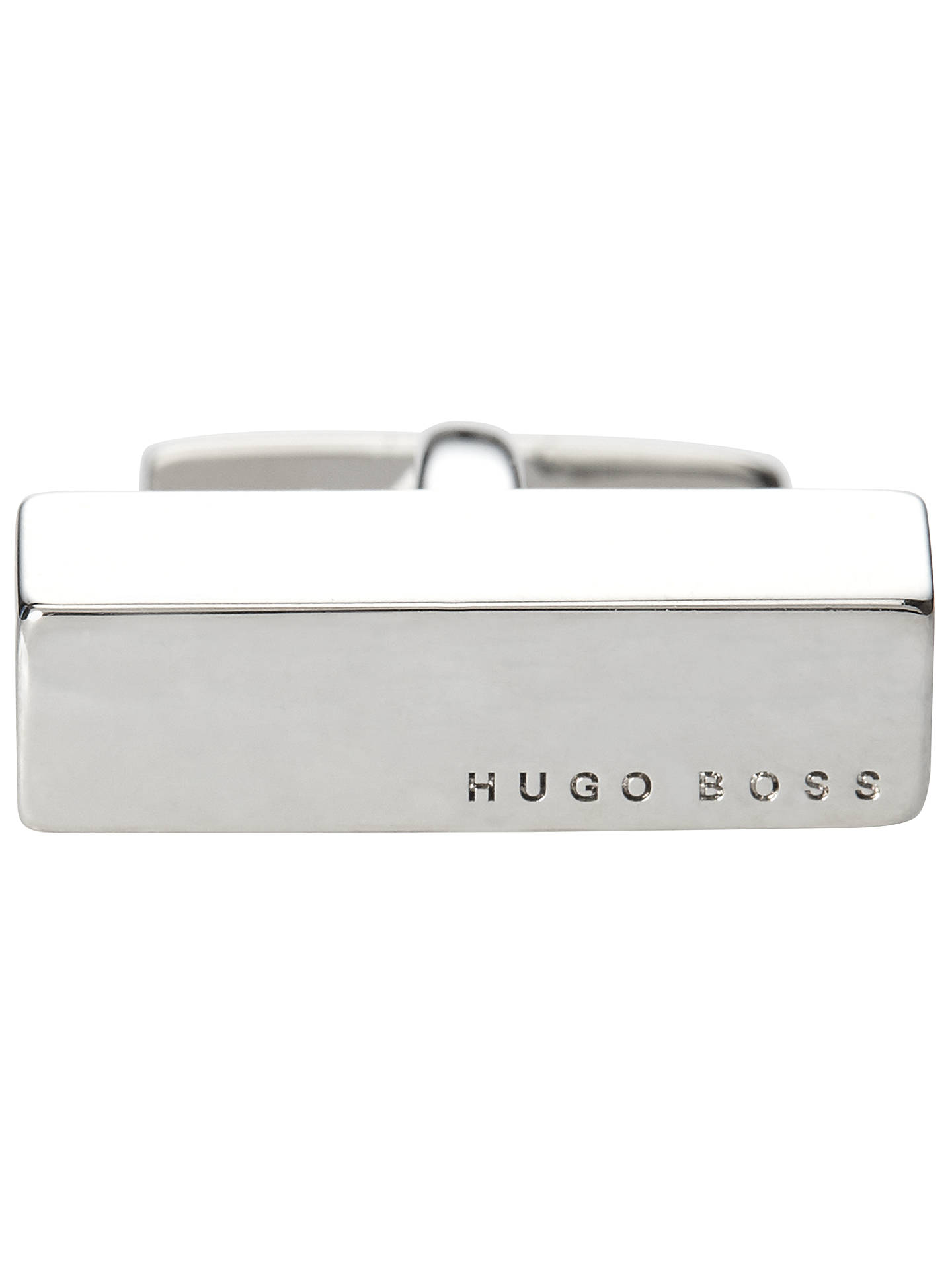 Buy BOSS Jammison Engraved Logo Cufflinks, Silver Online at johnlewis.com