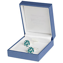 Buy Simon Carter for John Lewis Silver Plated Round Embossed Cufflinks Online at johnlewis.com