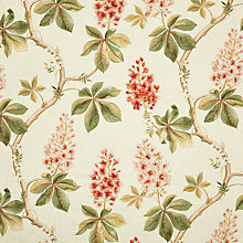 Buy Sanderson Chestnut Tree Coral/Bayleaf Fabric, Price Band F Online at johnlewis.com