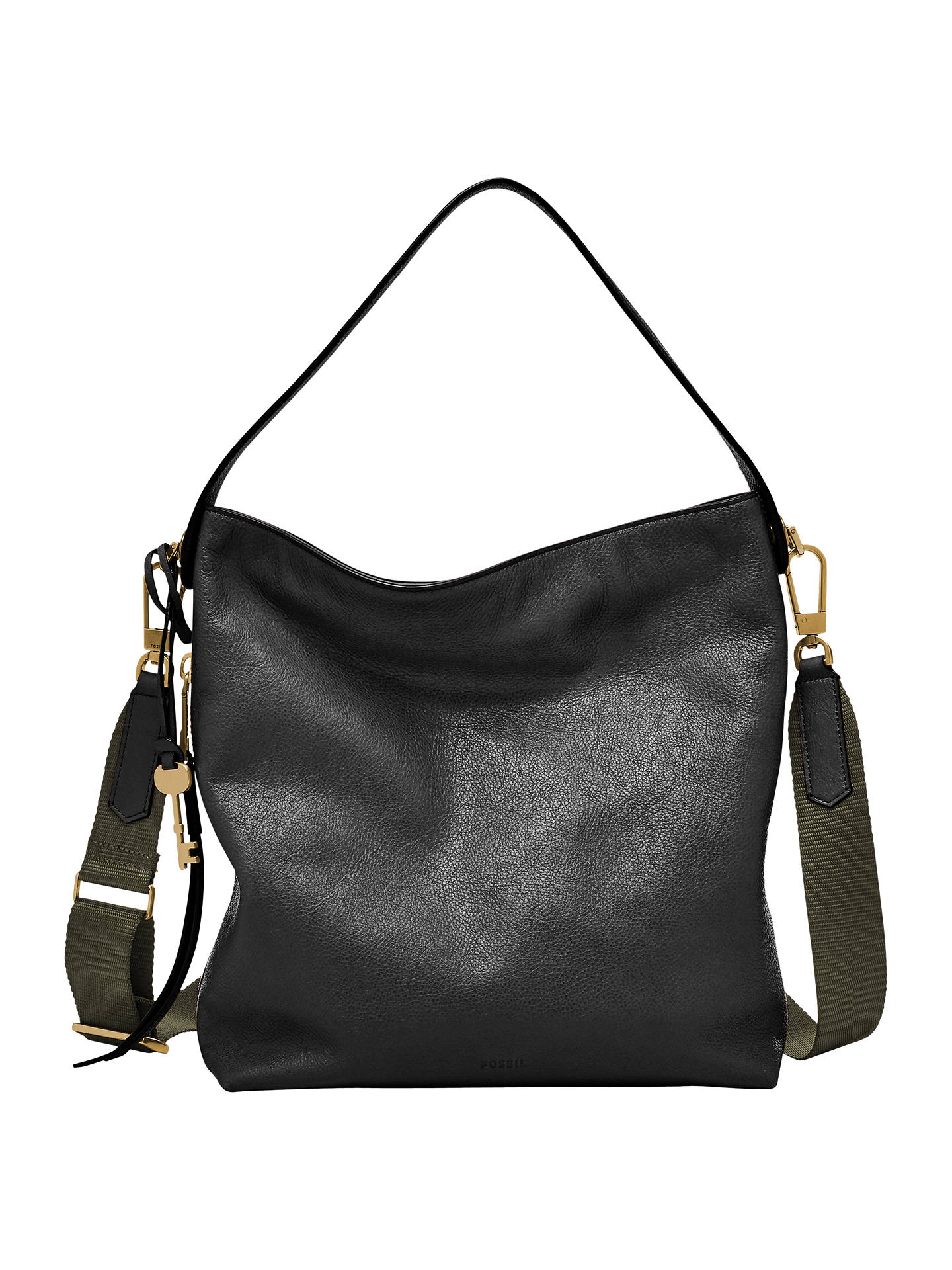 84dad43434 Fossil Maya Small Leather Hobo Bag at John Lewis   Partners