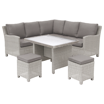 KETTLER Palma Mini Lounge / Dining Set With Glass Top Table