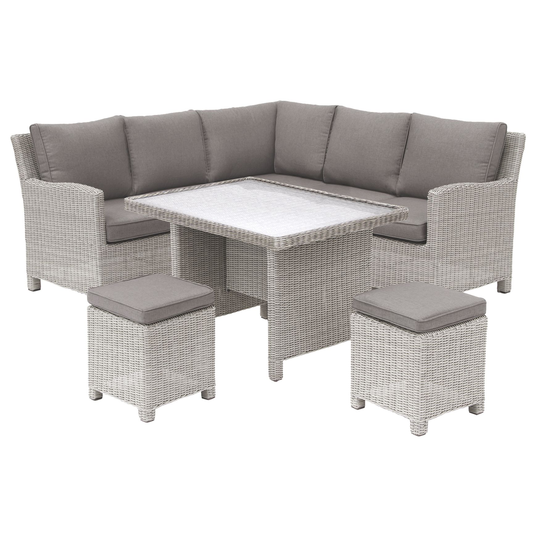 Kettler KETTLER Palma Garden Mini Lounge / Dining Set With Glass Top Table