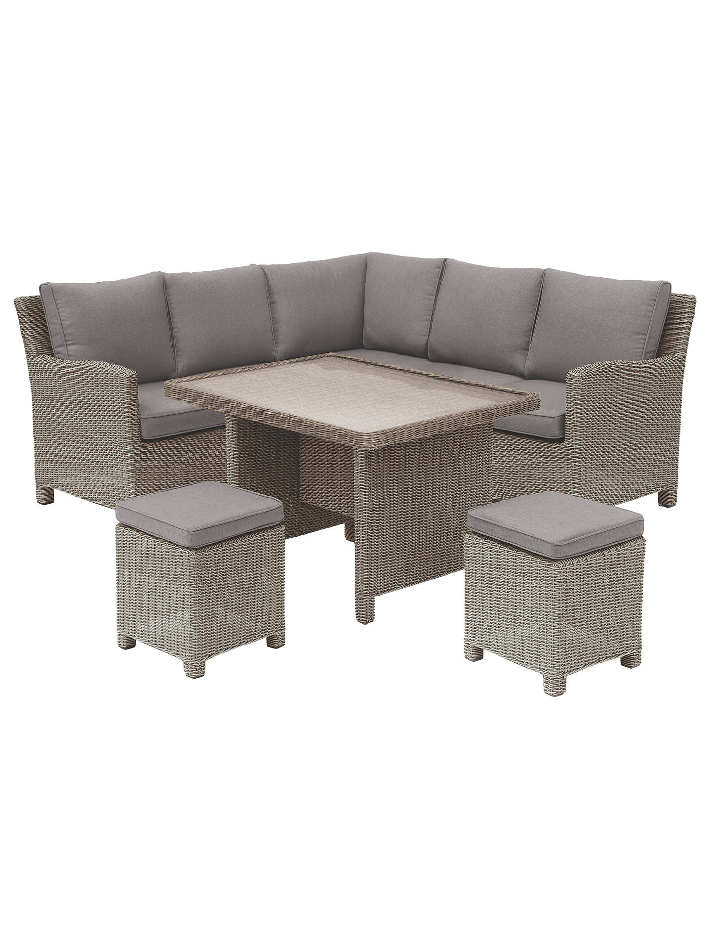 Buykettler palma garden mini lounge dining set with glass top table rattan online at