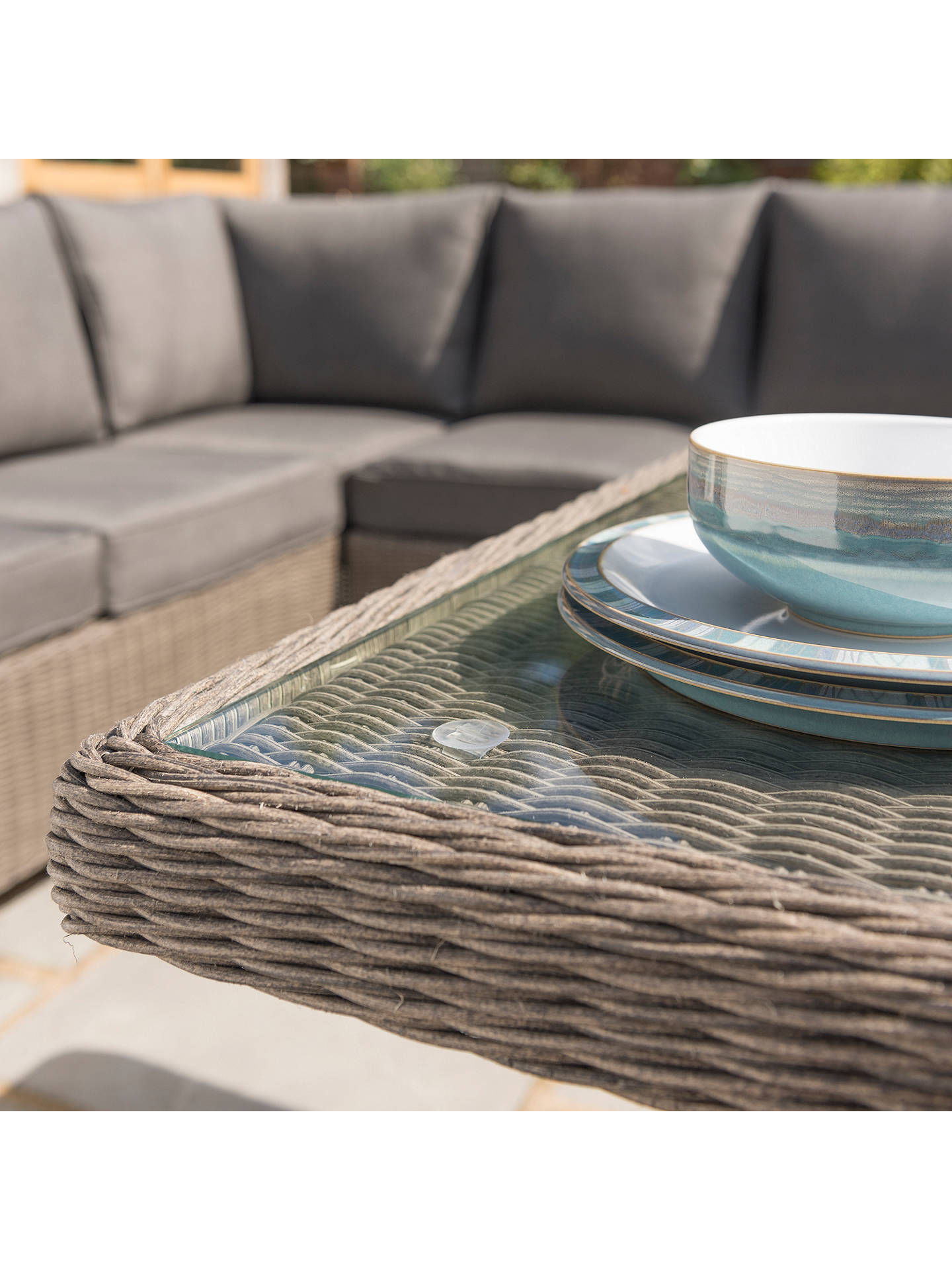 Buy KETTLER Palma Garden Mini Lounge / Dining Set With Glass Top Table, Rattan Online at johnlewis.com