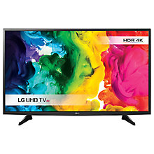 "Buy LG 43UH610V LED HDR 4K Ultra HD Smart TV, 43"" with Freeview HD Online at johnlewis.com"
