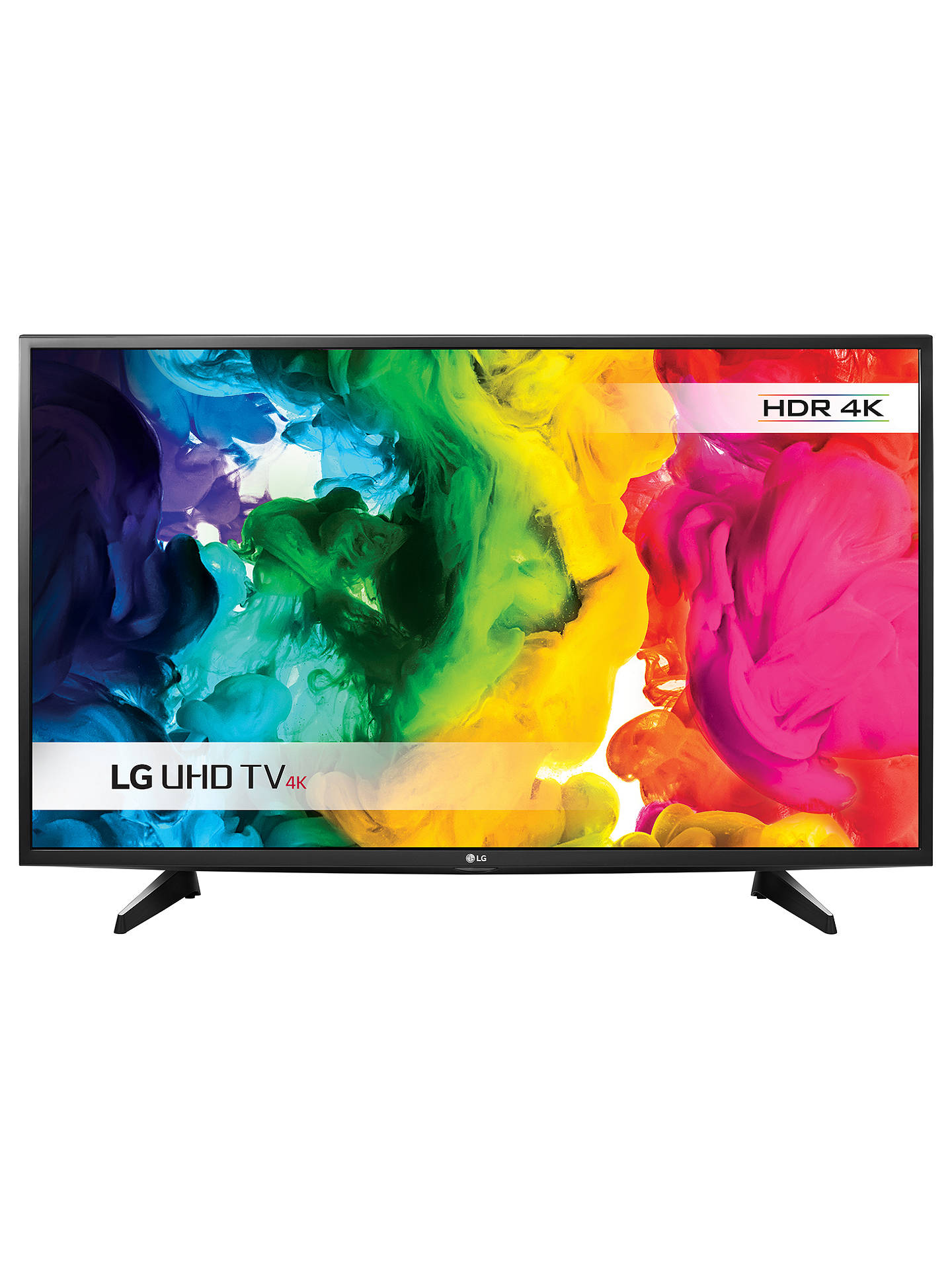 "BuyLG 43UH610V LED HDR 4K Ultra HD Smart TV, 43"" with Freeview HD Online at johnlewis.com"
