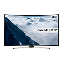 "Buy Samsung UE40KU6100 Curved HDR 4K Ultra HD Smart TV, 40"" with Freeview HD & PurColour Online at johnlewis.com"