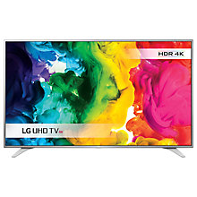 "Buy LG 60UH650V LED HDR 4K Ultra HD Smart TV, 60"" with Freeview HD & Ultra Slim Metallic Design, Silver & Black Online at johnlewis.com"
