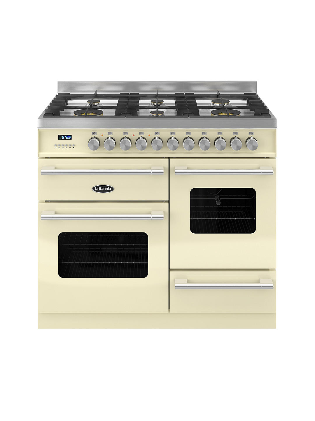 Buy Britannia RC-10XGG-DE-CR Delphi Dual Fuel Range Cooker, Cream Online at johnlewis.com