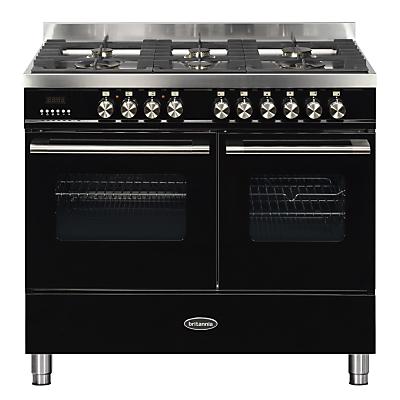 1000mm Twin Dual Fuel Range Cooker Gas Hob Black